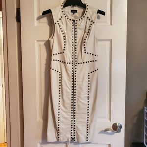 Bebe Leather Dress with Stud Detail
